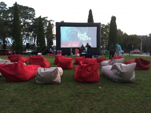 Festival of Mosman - Moonlight Movie and Music - Bean bags are waiting